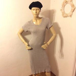 Audrey 3+1 Knit Midi Dress in Dove Grey, sz Small